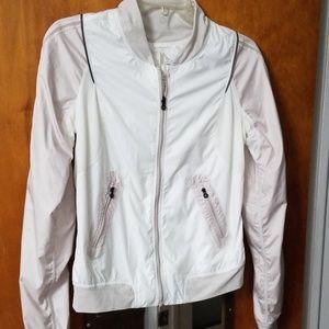 Lululemon White Nylon Jacket 4 Thumbholes